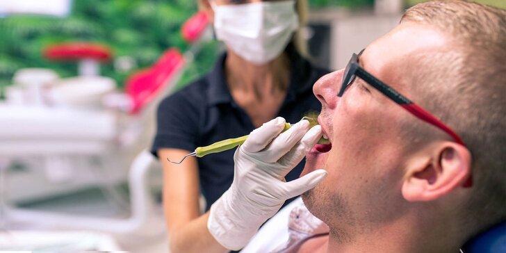 Dentálna hygiena so vstupnou prehliadkou a bielenie zubov v Dental club Košice