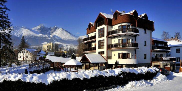 Zima pre 2 až 6 osôb vo Vysokých Tatrách v apartmánoch Vila BEATRICE**