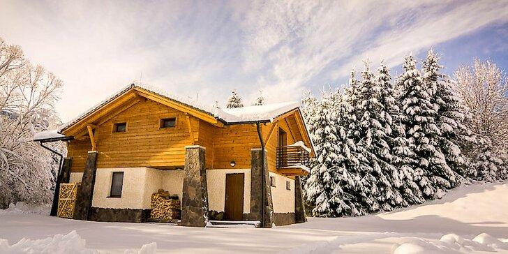 Dovolenka pre 4 až 6 osôb v nadštandardne vybavených horských domoch v prekrásnom prírodnom prostredí Nízkych Tatier