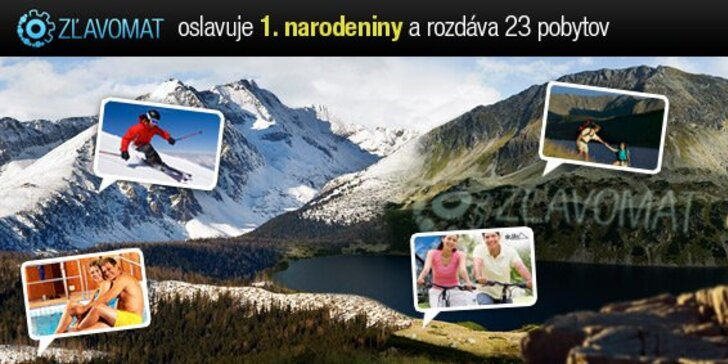 Hrajte s nami o 23 úžasných pobytových balíkov v celkovej hodnote viac ako 6000 eur! Oslávte s nami naše prvé narodeniny v niektorom zo skvelých slovenských hotelov!