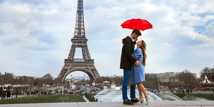 Valentín v Paríži so sektom pre pár ako darček