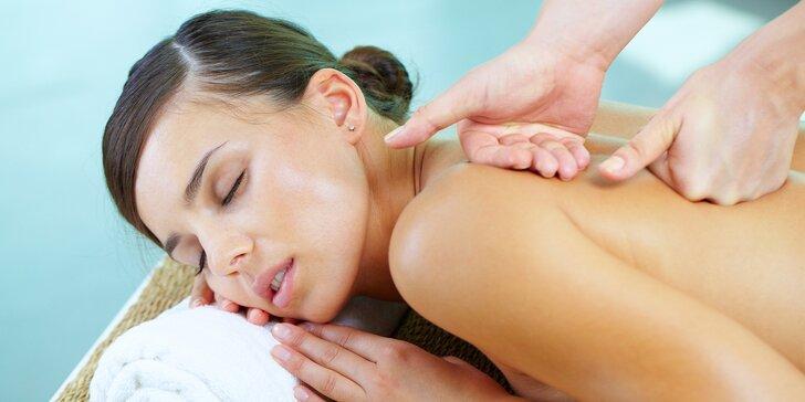 Uvoľňujúca klasická masáž chrbta, krku či celého tela