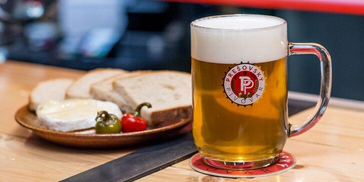 Kvalitné pivo, utopence či nakladaný hermelín v Prešovskej pivárni