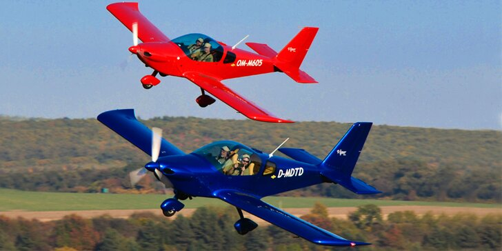 Let lietadlom Viper SD4 či Skyper GT9 s možnosťou pilotovania