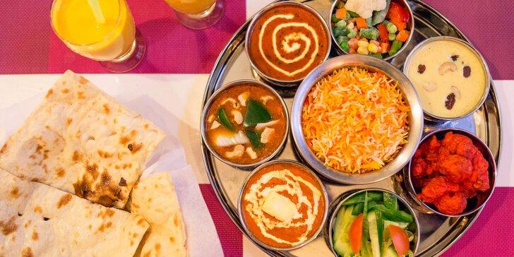 Vychutnajte si vo dvojici chutný vegetariánsky alebo Taj Mahal tanier