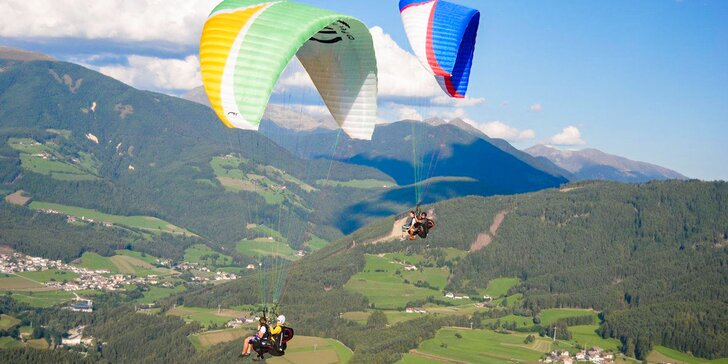 Zažite jedinečný tandem paragliding pre 1 alebo 2 osoby!