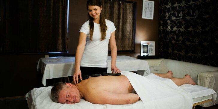 Relaxačná masáž s lávovými kameňmi a Reiki terapiou