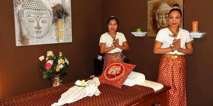 Thajské masáže kokosovým olejom alebo darčeková poukážka