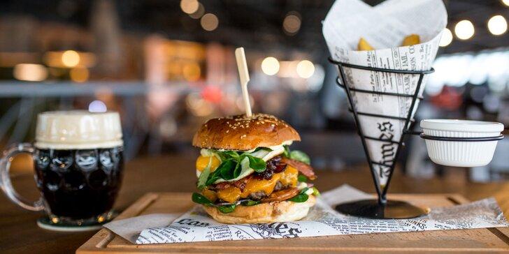 Marinované bravčové rebierka s pivom alebo burger v novom Staničnom Pivovare