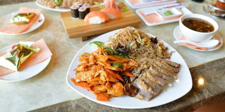 Bohaté menu pre dve osoby v ázijskej reštaurácii Avion Sunshine