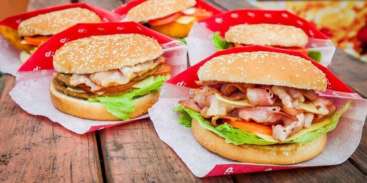 Pochutnajte si na burgri alebo na burger menu podľa výberu v PAPA´S