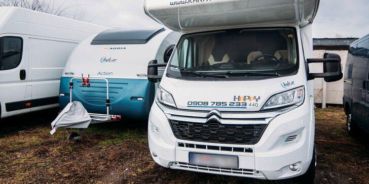 Prenájom obytného karavanu na 3, 4 alebo 7 dní