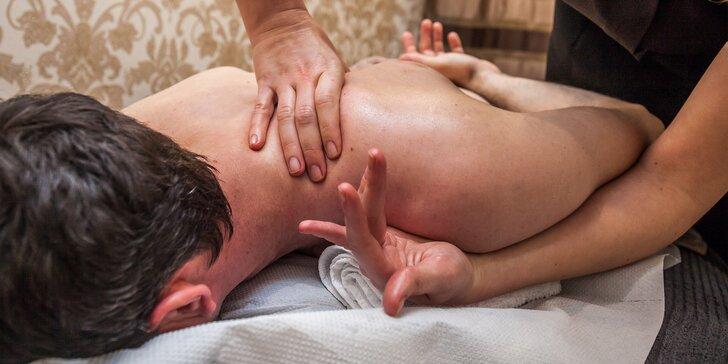 Relaxačná celotelová, thajská i čínska tlaková masáž pre zdravie a relax