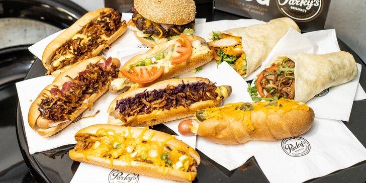 Hot dogy, bagety, wrapy či burger v Parky's Hot Dog