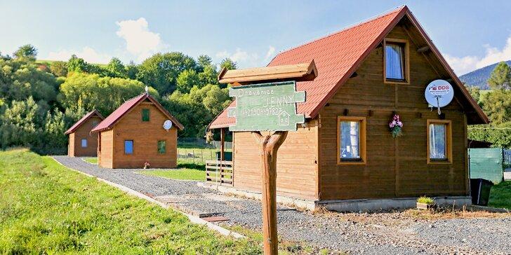 Relax pod Tatrami pre celú rodinu - kompletne zariadené drevenice Jenny pre 2 - 7 osôb