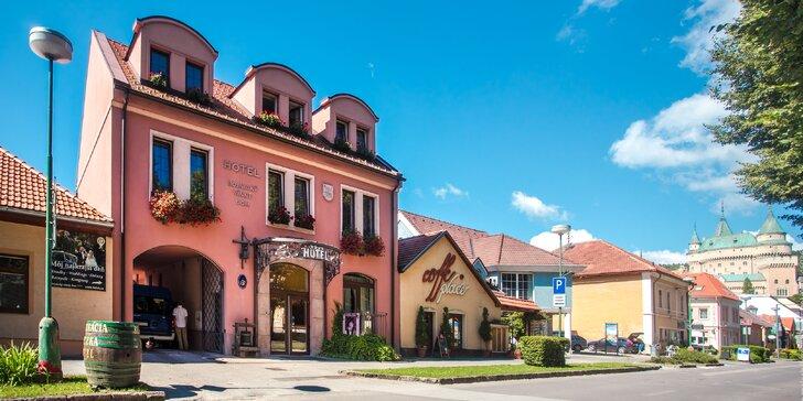 Romantický pobyt v Hoteli Bojnický Vínny Dom s privátnym wellness a výhľadom na zámok