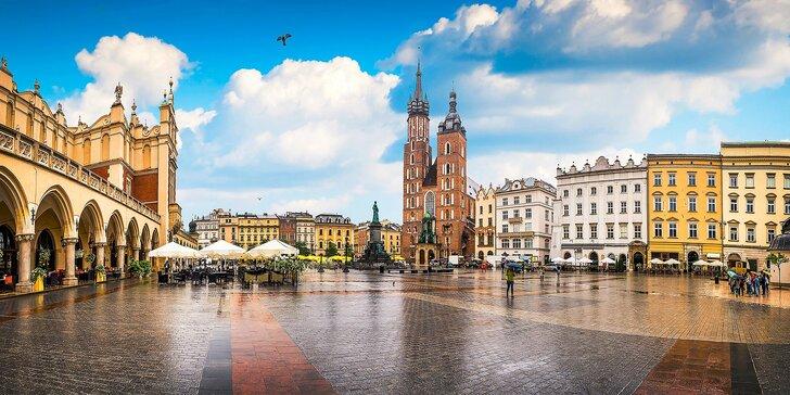 Letný romantický Krakov: pobyt pre dvoch aj s raňajkami