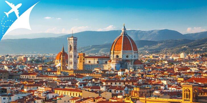 Toskánsko letecky - najznámejšie mestá Florencia, Pisa, Lucca, Modena, Bologna