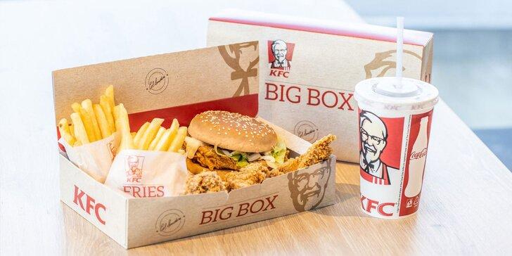 Legendárny BURGER BIG BOX a nápoj od KFC