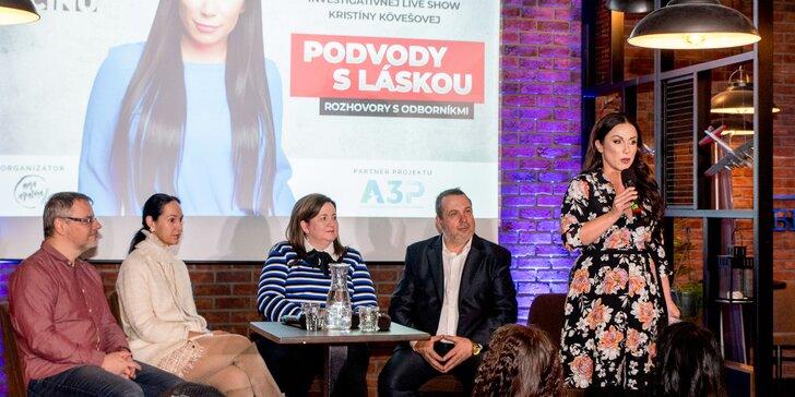 """Vstup na investigatívnu show Kristíny Kövešovej """"PROFIL ZLOČINU"""""""
