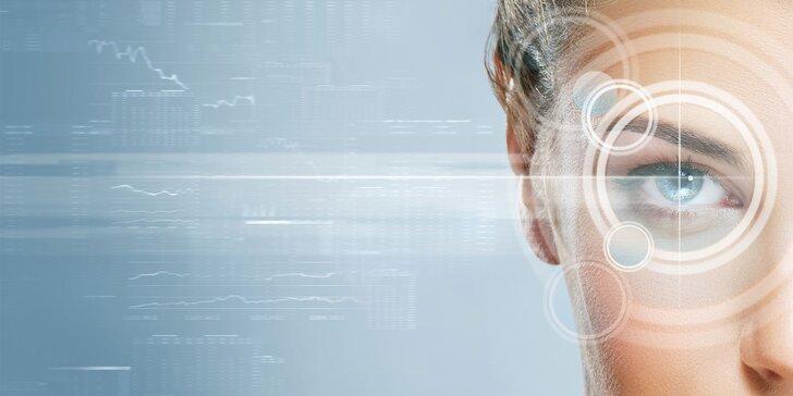 Bezbolestná operácia oboch očí femtosekundovým alebo excimerovým laserom