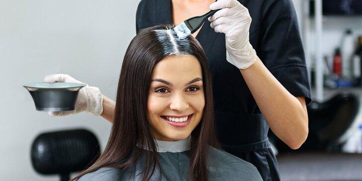 Farbenie, fúkaná a styling vlasov v salóne krásy LS