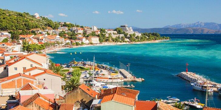 Až 7 nocí v chorvátskej Podgore: dovolenka s polpenziou v hoteli priamo na pláži