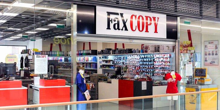 5 € za voucher v hodnote 10 € na širokú ponuku služieb v novootvorenej predajni FaxCOPY v Banskej Bystrici