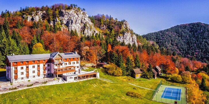 Aktívna dovolenka v krásnom horskom prostredí Veľkej Fatry s wellness, chutnou polpenziou a športami v Hoteli Malina*** na Malinô Brdo