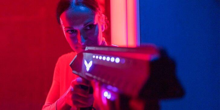 2 hodiny hry s najmodernejším laser game systémom pre 1 až 8 hráčov