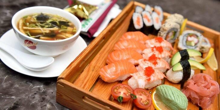 Sushi alebo mäsové menu pre 2 osoby v Avione