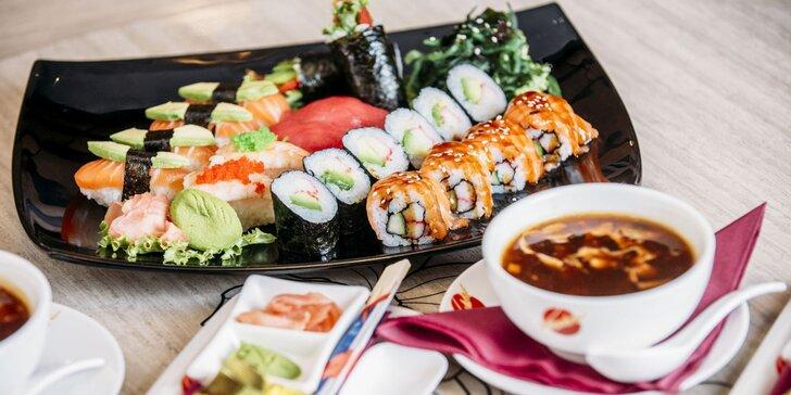 Chutné sushi menu pre 1 alebo 2 osoby v obľúbenom Sunshine