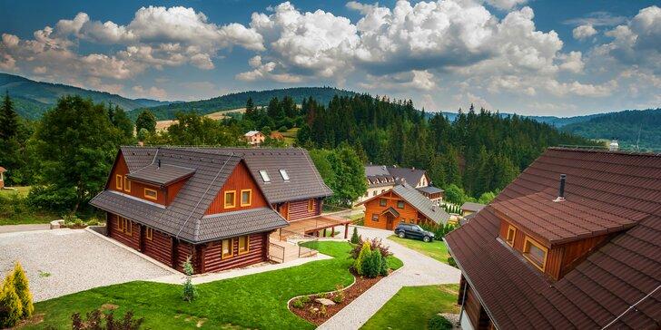 Novovybudované apartmány v štýlovom zrube s privátnou saunou v horskom prostredí v Oščadnici