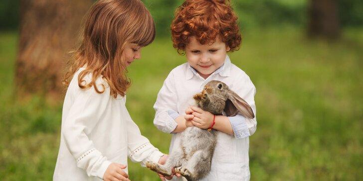 Športový detský tábor pre milovníkov zvierat so zapožičaním zajačika