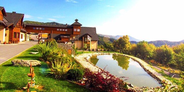Letný wellness pobyt v prostredí Starohorských vrchov s panoramatickým výhľadom + 1 dieťa ZADARMO
