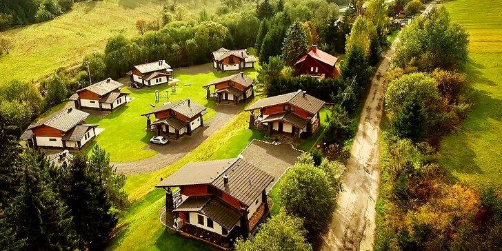 Dovolenka pre 4 až 9 osôb v nadštandardne vybavených horských domoch v prekrásnom prostredí Nízkych Tatier