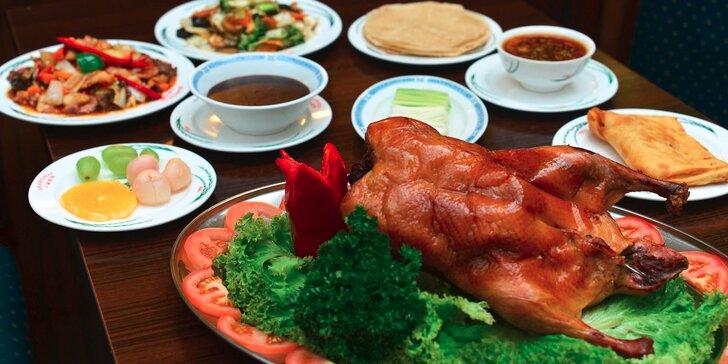 Bohaté 3-chodové menu s pekingskou kačicou pre 2 alebo 4 osoby