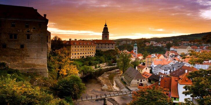 Zažite čarovnú atmosféru historického mesta Český Krumlov vo dvojici