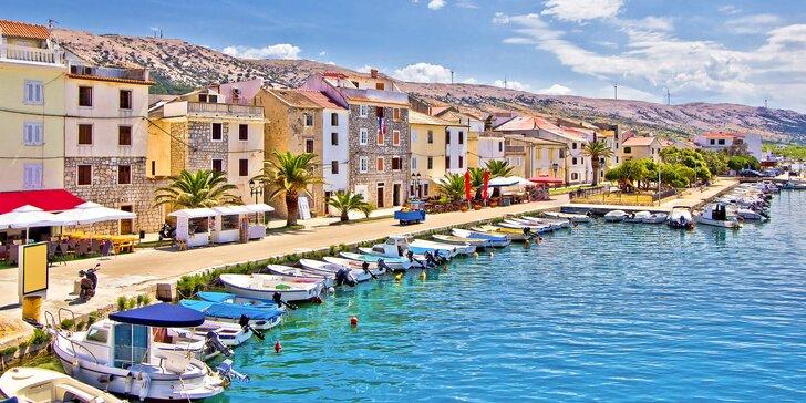 Na dovolenku do Chorvátska: hotel s raňajkami v centre Pagu, 150 m od pláže
