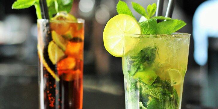 Miešané alko alebo nealko drinky v Music a Cafe Nitra
