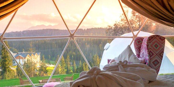 Luxusné netradičné ubytovanie v kupole Tatra Glamp s panoramatickým výhľadom