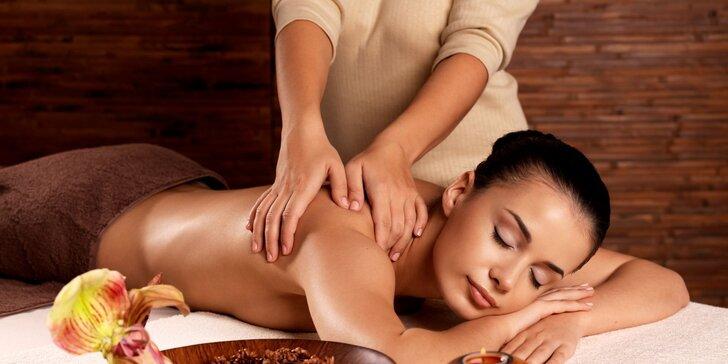 Klasická relaxačná masáž chrbta