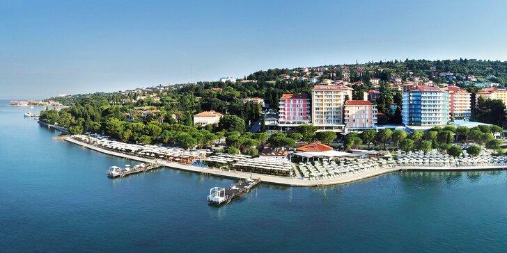 Vo dvojici alebo s rodinou do Slovinska: 4* hotel blízko mora, polpenzia a bazén