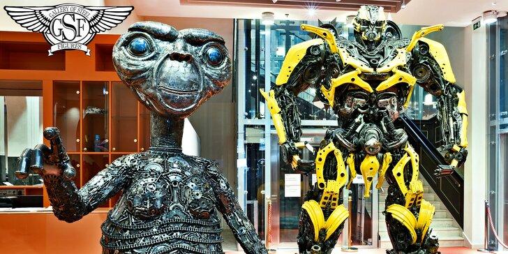 Galéria oceľových figurín: úžasný svet sci-fi, rozprávok, komiksov a áut