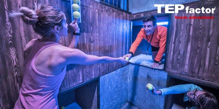 Akčná tímová hra TEPfactor: 3 hodiny plné pohybu a logických hádaniek