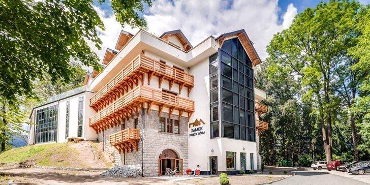 Krásy poľských Krkonôš: hotel v bývalom hrade, jedlo a neobmedzený wellness