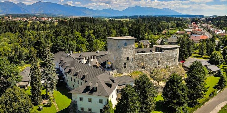 Romantický, kráľovský pobyt ako z rozprávky v luxusnom hradnom hoteli zo stredoveku Chateau GrandCastle****