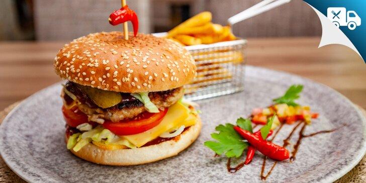 Burger alebo marinované rebierka - aj k vám domov!