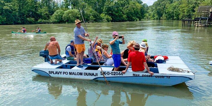 Splavujte Malý Dunaj na plti či VIP motorovom člne