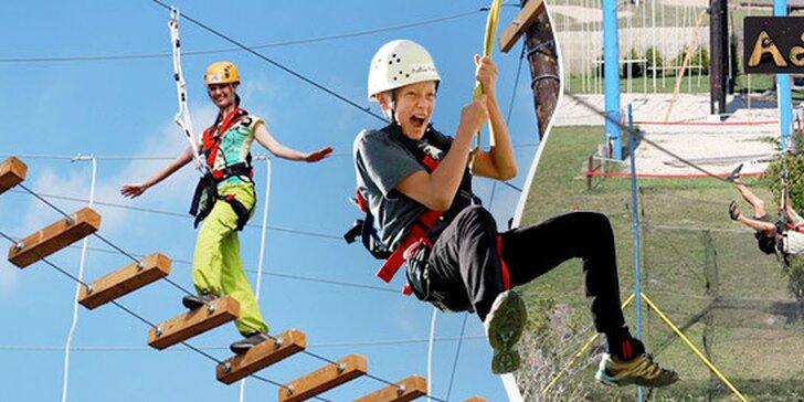 Lanové centrum a adrenalínový let v Čunove
